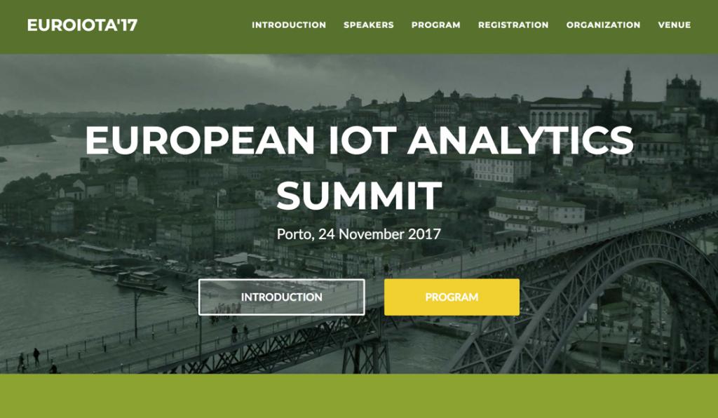 Porto, Portugal - European IoT Analytics Summit - EuroIoTA'17